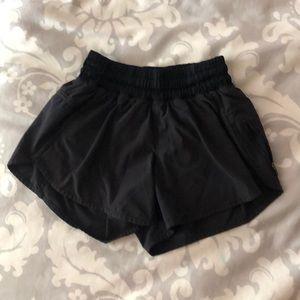 RARE black lululemon athletic shorts